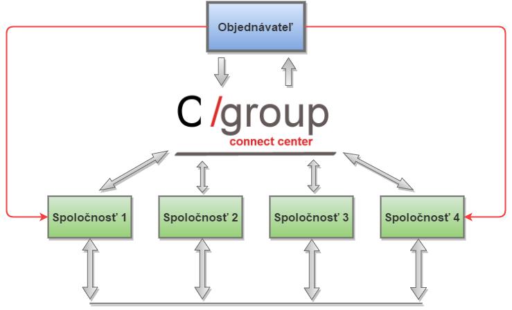 Cgroup šturktúra firmy